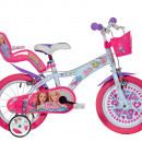 "Bicicleta copii 16"" - Barbie la plimbare"