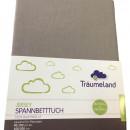 Cearsaf cu elastic Traeumeland Jersey Anthracite 90 x 200 cm