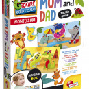 Joc tactil Montessori - Animalutele si familiile lor
