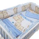 Lenjerie MyKids Teddy Friends Albastru 4+1 Piese M1 120x60