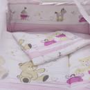 Lenjerie MyKids Teddy Play Pink M2 7 Piese 140x70 cm