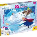 Puzzle de colorat - Frozen la schi (60 piese)