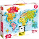 Puzzle Descopera lumea - Tinerii exploratori, 168 piese, 98x68cm Banana Panda BP33672