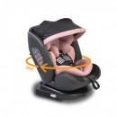 Scaun Auto Pilot Pink Rotativ 360 cu Isofix 0-36 kg