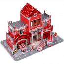 Set constructie puzzle 3D - Statie de pompieri Fiesta Crafts FCT-3047