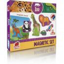 Set magnetic Animale de la Zoo cu Plansa magnetica inclusa, 19 piese Roter Kafer RK2090-02