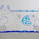 Lenjerie MyKids My Zoo Albastru 4+1 Piese 140x70 cm