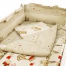 Lenjerie MyKids Teddy Toys Maro 4+1 Piese 120x60