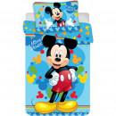 Set lenjerie pat copii Mickey Child 100x135 + 40x60 SunCity JFK016695