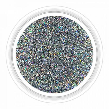 Sclipici Metalizat Unghii Silver Rainbow No 06