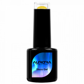Oja Semipermanenta Disco Aurora Secret 15ml, Culoare Galben, No. 09, Cantitate 15ml