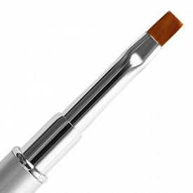 Pensula Unghii Aplicare Gel Nr 4 Varf Drept, Silver Shine