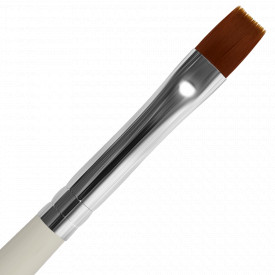 Pensula Unghii Aplicare Gel Nr. 10 Varf Drept White Simplicity