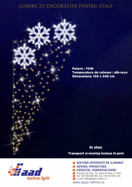 Lumini decorative pentru stalp 2D