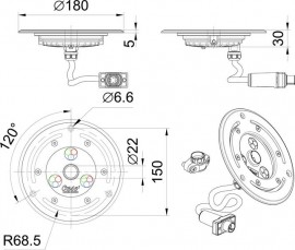 ProfiPlane LED 320 /DMX/02