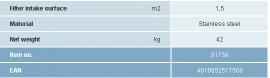 Sorb filtrant 600/280/150/200E