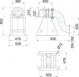 Water Screen Nozzle 45 x 15