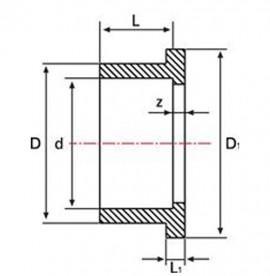 Adaptor flansa PVC-UH