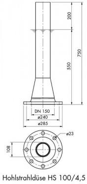 Hollow Jet Nozzle 100