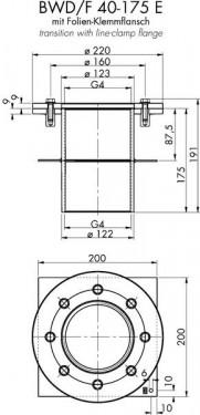 Piesa de trecere pentru beton F 40-175 E