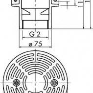 Grilaj pentru sifon 70 E