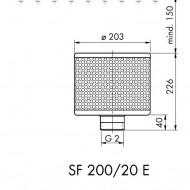 Sorb filtrant 200/166/20 E