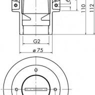 Piesa inglobata in beton 70 T