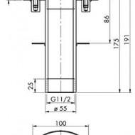 Piesa de trecere pentru beton F 15-175 E