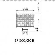Sorb filtrant 200/100/15 E