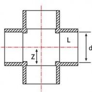 Cruce PVC-UH 90°