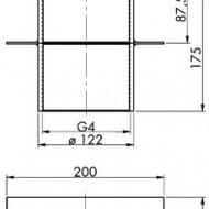 Piesa de trecere pentru beton 40-175 E