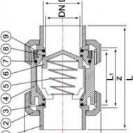 Clapeta de sens PVC-U cu arc, lipire
