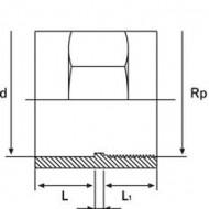 Mufa PVC-UH cu filet interior