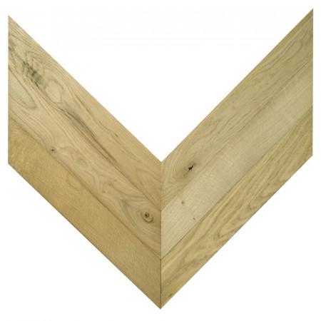 Chevron Solid Wood Oak rustic - Unfinished Stamford