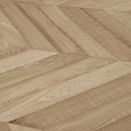 chevron engineered oak natural 45 degree saw marks raw Newtown 4v detail