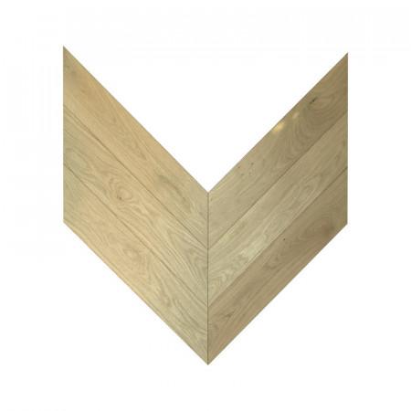 engineered pattern chevron - oak natural raw 4V King's Lynn