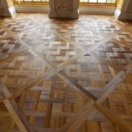 Solid Antique Versailles - Old Oak, Oiled, Brushed