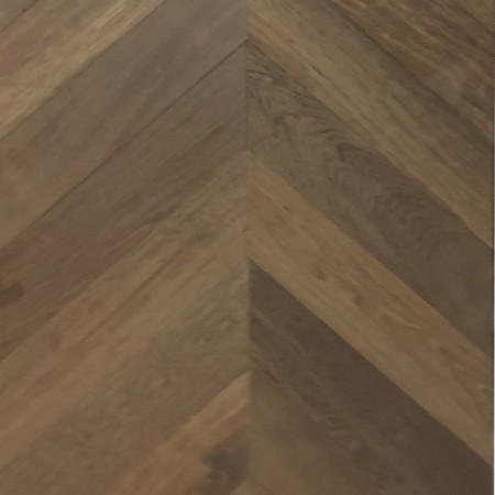 chevron massive oak smoked natural - 4V raw Worcester