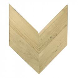 Chevron Solid Wood Parquet Oak - Raw 4V Nottingham