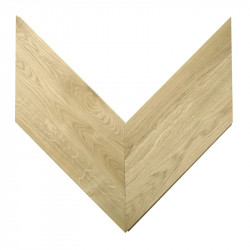 Chevron Solid Wood Oak natural - Unfinished Stamford