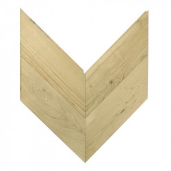 Chevron Solid Wood Parquet Oak - Raw 4V Nottingham