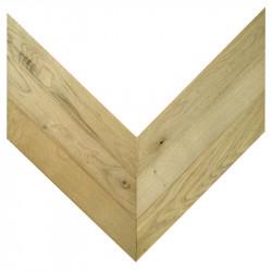 Chevron Solid Wood Oak - Unfinished Stamford