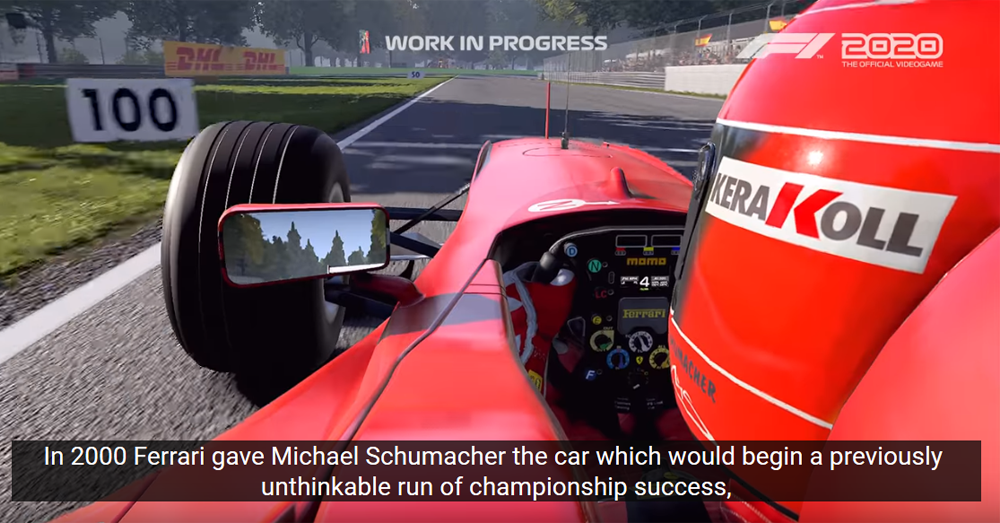 Must See Two Ferrari Michael Schumacher Title Winning Cars Celebrated In New F1 2020 Game