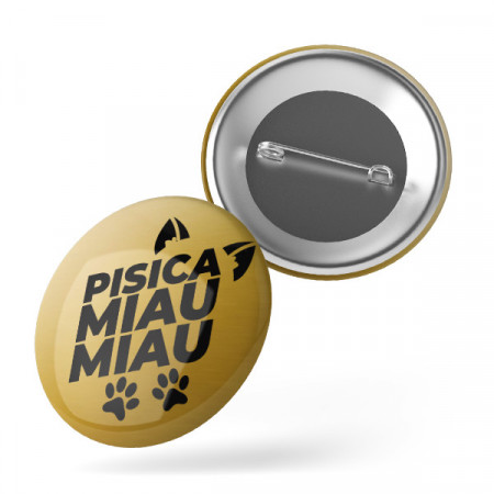 Insigna Pisica MiuaMiau Gold