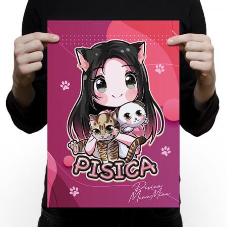 Poster Pisica MiauMiau cu semnatura digitala