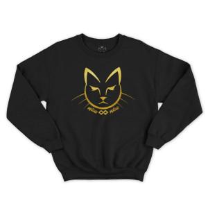 Hanorac fara gluga Pisica Gold