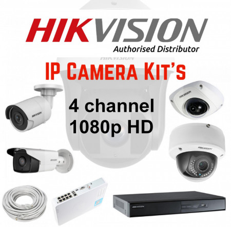 HIKVISION 4CH FULL HD IP KIT 1080P images