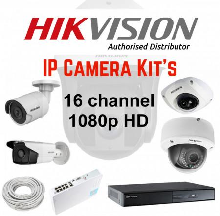 Hikvision 16ch Full HD IP Kit 1080p
