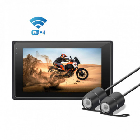 Dashcam & Bike Full HD Dual Camera Recorder 1080p