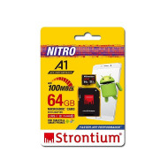 Strontium 64GB Micro SDXC UHS-1 U1 Class10 Card with SD Adaptor